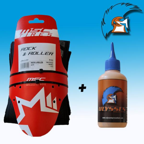 Liquido tubeless 125 ml + MSC Rock and Roller 29 x 2.20